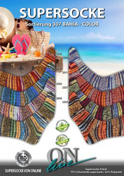 ONline Sockenwolle 4-fach Bahia Color